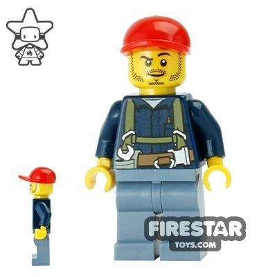 LEGO City Mini Figure - Miner with Harness