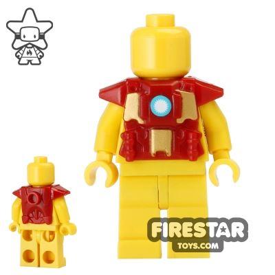 BrickForge - Printed Shock Trooper Armour - ARC Reactor - Dark Red