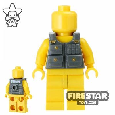 BrickForge - Tactical Vest - Dark Blueish Gray - Sheriff print