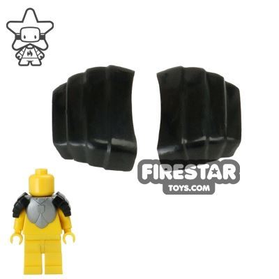 BrickForge - Segmented Pauldrons - Black - Pair