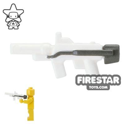 BrickForge - Sub Orbital Machine Gun - White and Steel