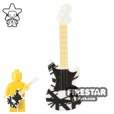 BrickForge - Electric Guitar - White with Van Halen Print