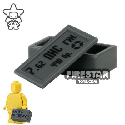 BrickForge - Ammo Case - Russian 7.62 CAL - Dark Blueish Gray
