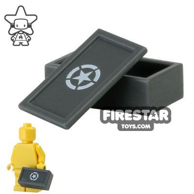 BrickForge - Ammo Case - US Army Star - Dark Stone Gray