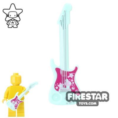 LEGO - Electric Guitar - Aqua and Magenta