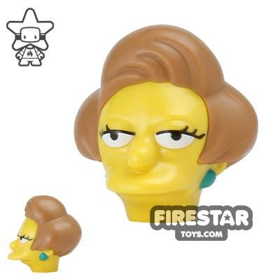 LEGO Mini Figure Heads - The Simpsons - Edna Krabappel