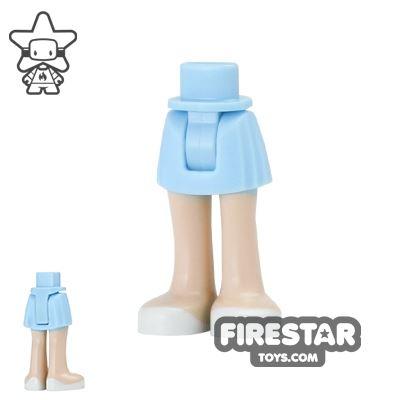 LEGO Friends Mini Figure Legs - Bright Light Blue Skirt