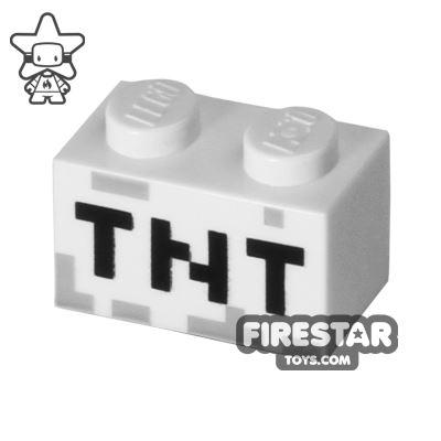 Printed Brick 1x2 Minecraft TNT