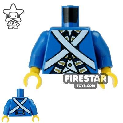 LEGO Mini Figure Torso - Bluecoat Soldier Uniform