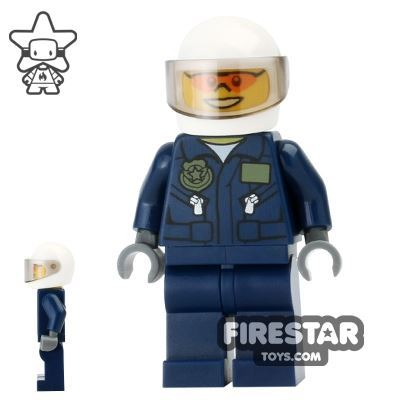 LEGO City Mini Figure - Swamp Police - Helicopter Pilot