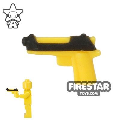 BrickForge - Tactical Sidearm - Yellow with Black Slide