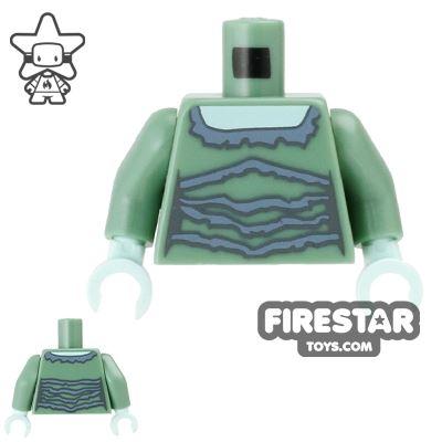 LEGO Mini Figure Torso - Banshee - Sand Green Top