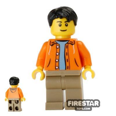 LEGO City Mini Figure - Orange Jacket