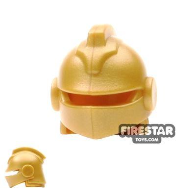 BrickWarriors - Jousting Helmet - Pearl Gold