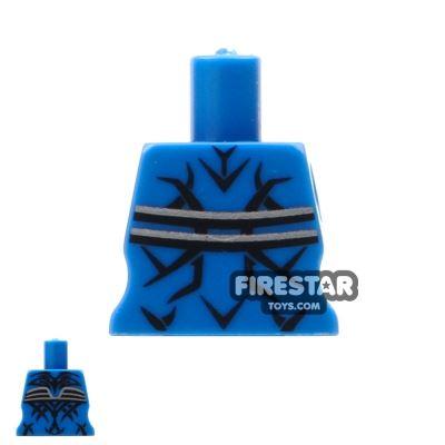 Arealight Mini Figure Torso - Blue - Tattoo Pattern
