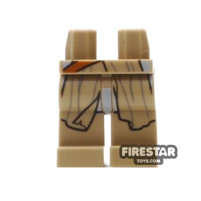 LEGO Mini Figure Legs - Dark Tan with Flowing Robe