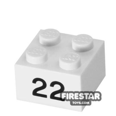 Printed Brick 2x2 - Number 22