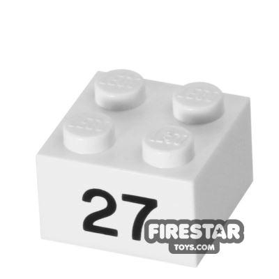Printed Brick 2x2 - Number 27