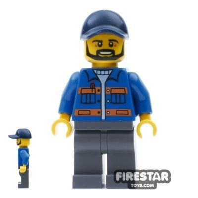 LEGO City Mini Figure - Blue Jacket and Cap