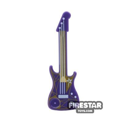 LEGO - Electric Guitar - Dark Purple and Gold