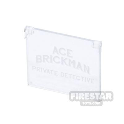 Printed Window Glass 1x4x3 - Ace Brickman Private Detective