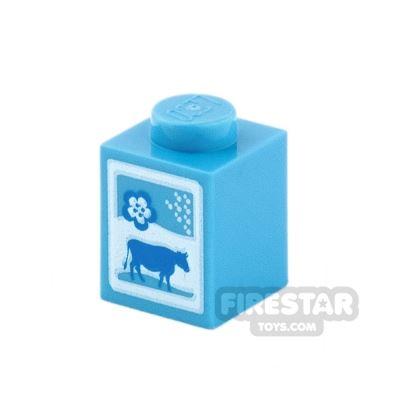 Printed Brick 1x1 - Milk Carton