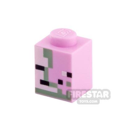 Printed Brick 1x1 - Minecraft Zombie Pigman