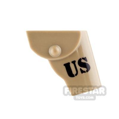 BrickForge - Gun Holster - US - Dark Tan - RIGGED System