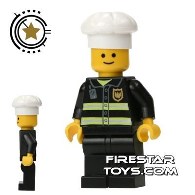 LEGO City Mini Figure – Fireman With Cook's Hat