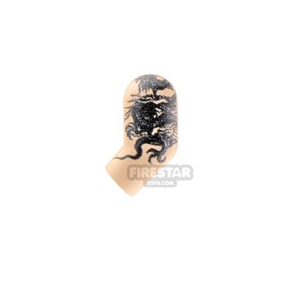 Custom Design Left Arm Dragon Tattoo