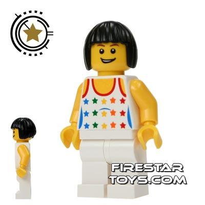 LEGO City Mini Figure - White Legs And Star Top