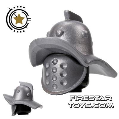 BrickForge - Gladiator Helmet And Mask - Silver