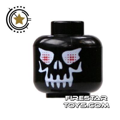 LEGO Mini Figure Heads - Evil Black Skull