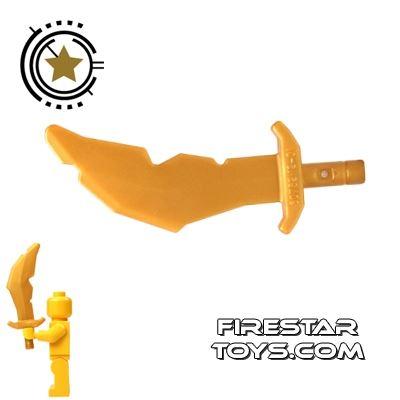 LEGO - Scimitar Sword - Pearl Gold