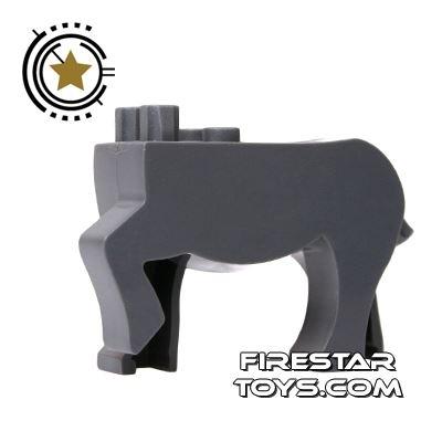 BrickForge Animals Mini Figure - Dark Gray Centaur