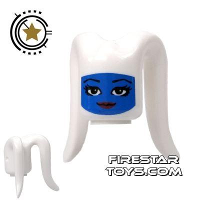 Arealight Mini Figure Heads - White And Blue