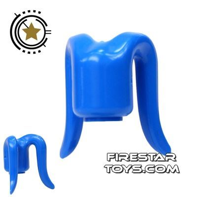 Arealight Mini Figure Heads - Monochrome Blue - Plain