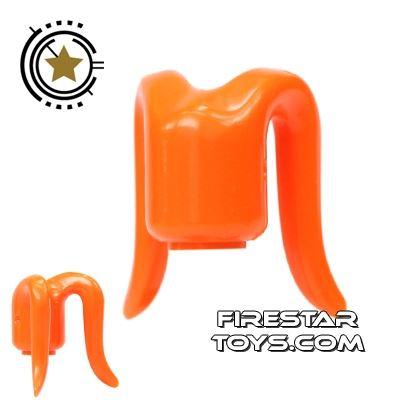 Arealight Mini Figure Heads - Monochrome Orange - Plain