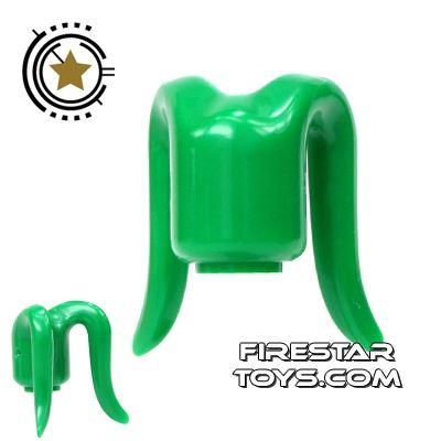Arealight Mini Figure Heads - Monochrome Green - Plain
