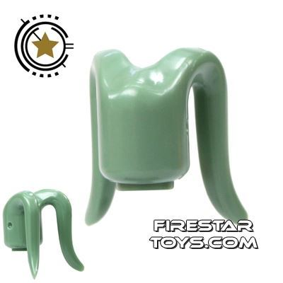 Arealight Mini Figure Heads - Monochrome Sand Green - Plain