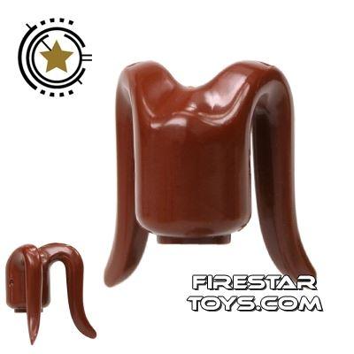 Arealight Mini Figure Heads - Brown - Plain