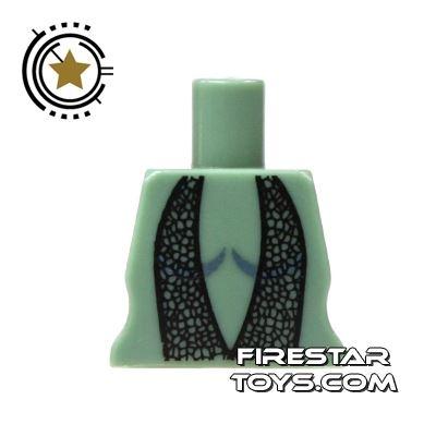 Arealight Mini Figure Torso - Twilek Dancer Dress - Black