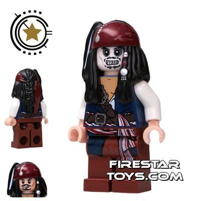 LEGO Pirates Of The Caribbean Mini Figure - Captain Jack Sparrow - Zombie
