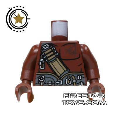 LEGO Mini Figure Torso - Bare Chest And Utility Belt