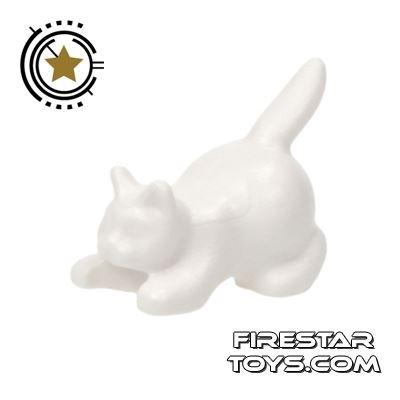 LEGO Animals Mini Figure - Crouching Cat - White