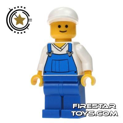 LEGO City Mini Figure - Overalls And White Cap