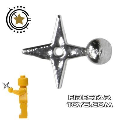 Brick Command - Ninja Star - Chrome Silver