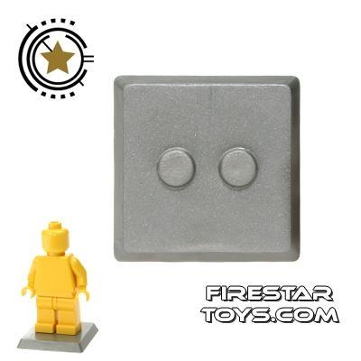 Brick Command - Mini Figure Stand - Pearl Gray