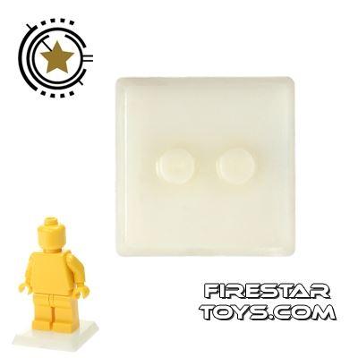 Brick Command - Mini Figure Stand - Off White