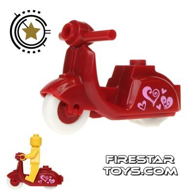 BrickForge - Dark Red Scooter - Hearts